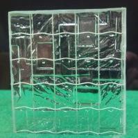 Tlačené sklo do interiérových dveří - Nordic drát