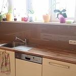 Barevné sklo Lacobel - obklady do kuchyně 2
