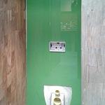 Barvené sklo Lacobel - toaleta 1