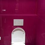 Barvené sklo Lacobel - toaleta 12