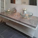 Kalené sklo - koupelna 1