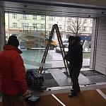 Kalené sklo - prosklený vchod 4